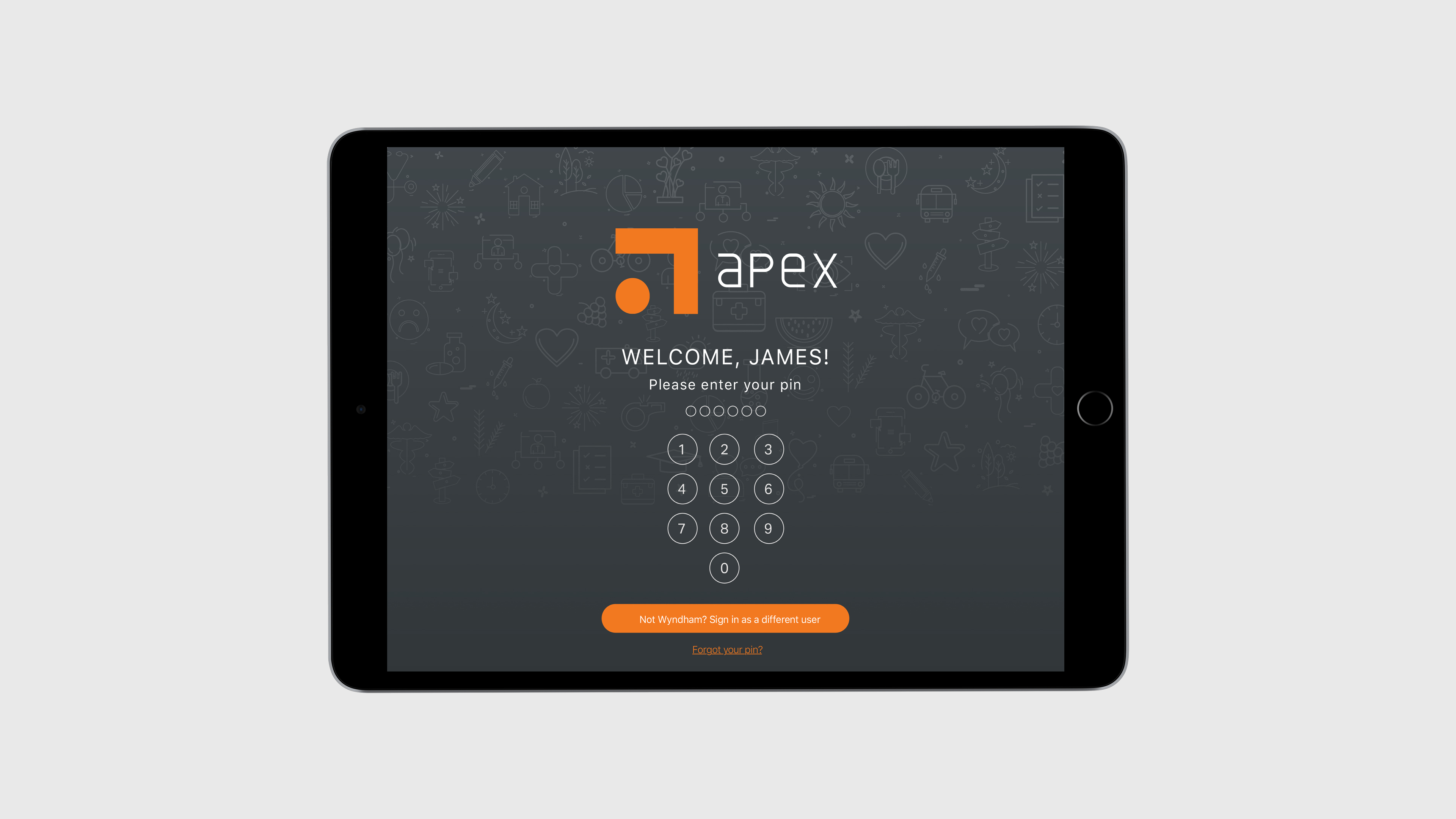 Apex pin tablet mock