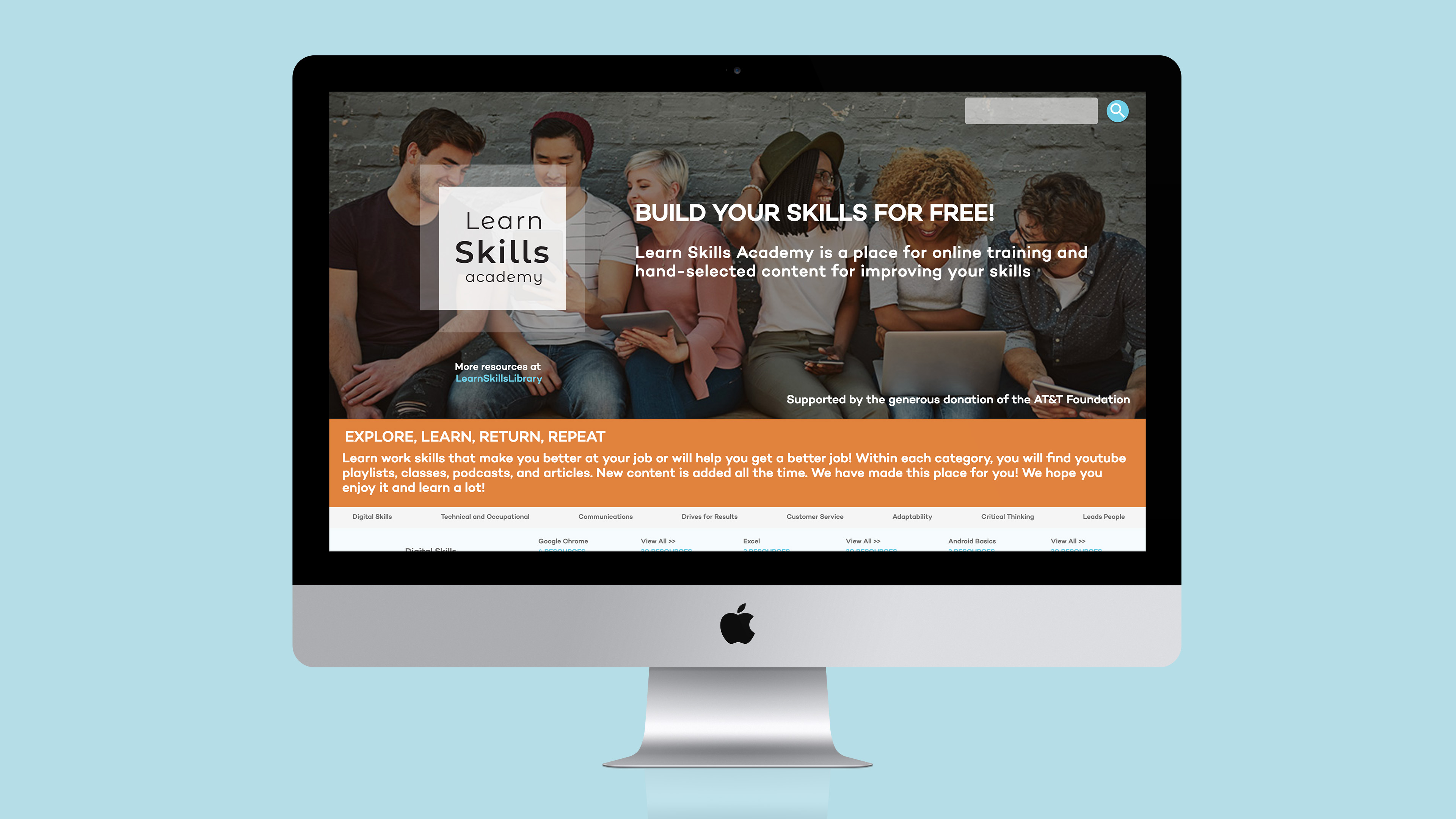 Learn skills academy desktop mock